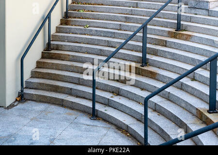 Berlin, Germany, August 29, 2018: Circular Staicase - Stock Photo
