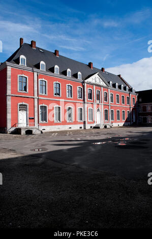 The abbey-palace of the Abbey of the Prince-Bishops of Stavelot in the Eastern Cantons, formerly St. Remacle abbey (Belgium, 23/02/2014) - Stock Photo