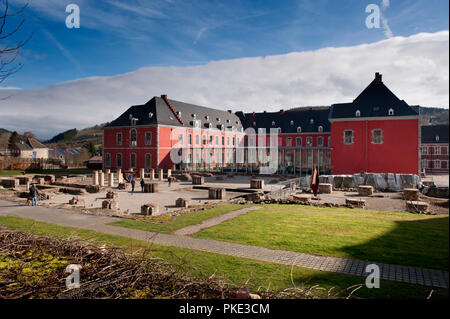 The Abbey of the Prince-Bishops of Stavelot in the Eastern Cantons (Belgium, 23/02/2014) - Stock Photo