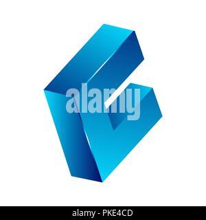 Abstract 3d square logo design, Corner geometric shape, symmetric symbol, square icon, square shape Company logo - Stock Photo