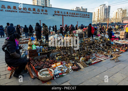 Panjiayuan Antique Market; Beijing, China - Stock Photo