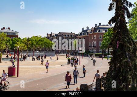 Museumplein, Amsterdam, Netherlands - Stock Photo