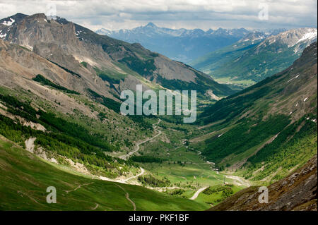 Impressions of the French Alps from the Col du Lautaret, in the Hautes Alpes department (France, 14/06/2010) - Stock Photo