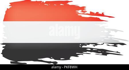 Yemeni flag, vector illustration on a white background - Stock Photo