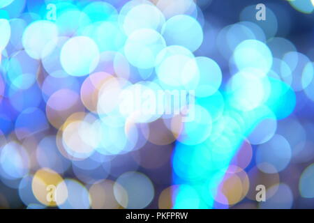 Bokeh of multicolored lights new year Christmas - Stock Photo