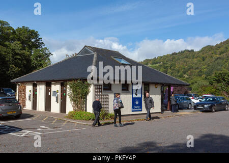 The Tourist Information Centre and Public Toilets in the main carpark at Drumnadrochit, Highland Region, Scotland, UK - Stock Photo