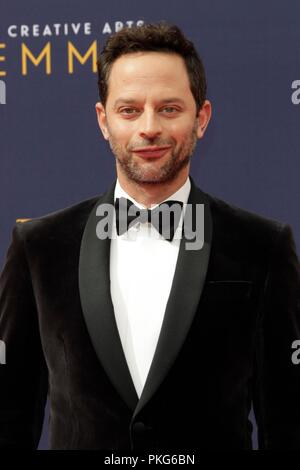 Los Angeles, CA, USA. 9th Sep, 2018. LOS ANGELES - SEP 9: Nick Kroll at the 2018 Creative Arts Emmy Awards - Day 2 - Arrivals at the Microsoft Theater on September 9, 2018 in Los Angeles, CA at arrivals for Primetime Emmy Awards: Creative Arts Awards - SUN, Microsoft Theater, Los Angeles, CA September 9, 2018. Credit: Priscilla Grant/Everett Collection/Alamy Live News - Stock Photo