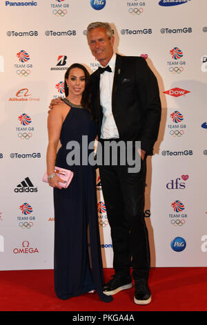 London, UK. 13th September 2018. Beth Tweddle and Mark Foster attends the Team GB Ball 2018 on Thursday, September 13, 2018, at the Royal Horticultural Halls, LONDON ENGLAND. Credit: Taka Wu/Alamy Live News - Stock Photo