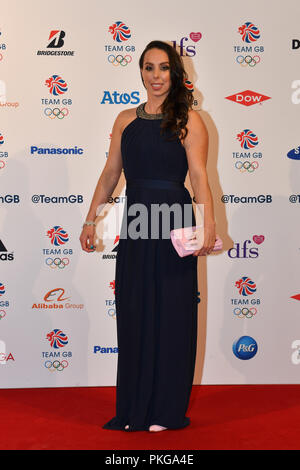 London, UK. 13th September 2018. Beth Tweddle attends the Team GB Ball 2018 on Thursday, September 13, 2018, at the Royal Horticultural Halls, LONDON ENGLAND. Credit: Taka Wu/Alamy Live News - Stock Photo