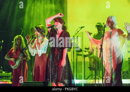Southbank, London, UK. 13th Sep 2018. Melanie Pain performing with Whyte Horses on stage at the Festival Hall, Southbank, in London. Photo date: Thursday, September 13, 2018. Photo: Roger Garfield/Alamy Credit: Roger Garfield/Alamy Live News - Stock Photo
