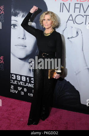 Los Angeles, USA. 13th Sep 2018. Actress Jane Fonda attends HBO Presents The Los Angeles Premiere of the HBO Documentary Film 'Jane Fonda In Five Acts' on September 13, 2018 at Hammer Museum in Los Angeles, California. Photo by Barry King/Alamy Live News - Stock Photo