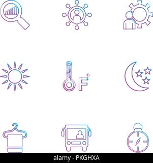 search , compass , temprature , crecent  , Ecology , eco , icons , weather , enviroement , icon, vector, design,  flat,  collection, style, creative,  - Stock Photo