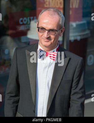 Edinburgh, 26th May 2017. Guest sporting a stars and stripes bow tie for the Sir Tom Hunter Foundation Dinner, EICC Edinburgh. - Stock Photo