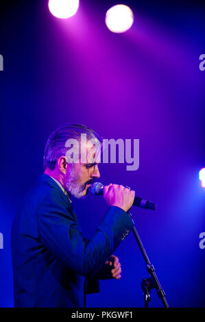 Concert of the Belgian band Triggerfinger in the Amerikaans Theater, Brussels (Belgium, 25/11/2011) - Stock Photo