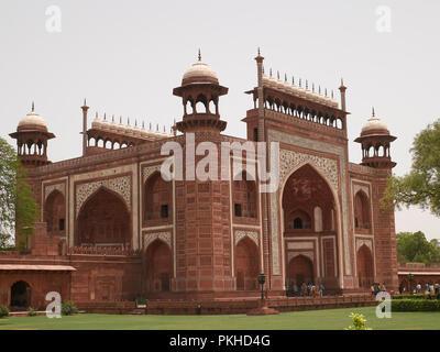 Darwaza-i-rauza, The Great gate , gateway to The Taj Mahal, Agra, India, Asia - Stock Photo