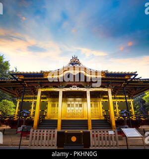 Ueno Toshogu Shrine in Ueno Park, Tokyo, Japan TOKYO, JAPAN - APRIL 29 2018: Ueno Toshogu shrine built in 1616, one of Toshogu shrines across the coun - Stock Photo