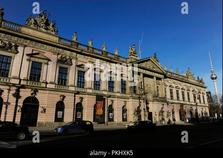 Germany. Berlin. German Historical Museum 'Deutsches Historisches Museum', located in the Old Arsenal ' Zeughaus', built between 1695-1730 in Baroque style. Main facade. - Stock Photo