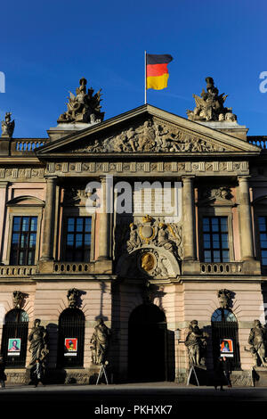 Germany. Berlin. German Historical Museum 'Deutsches Historisches Museum', located in the Old Arsenal ' Zeughaus', built between 1695-1730 in Baroque style. Detail of the main facade. - Stock Photo