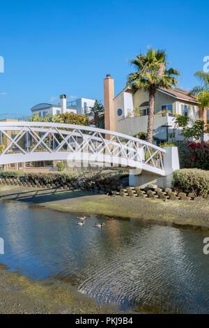 Bridge in Venice canals, Los Angeles, California - Stock Photo
