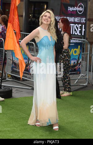 The Festival World Premiere at Cineworld Leicester Square, London on Monday 13th August 2018  Featuring: Lizzy Connolly Where: London, United Kingdom When: 13 Aug 2018 Credit: WENN.com - Stock Photo