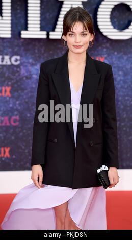 Photo Must Be Credited ©Alpha Press 079965 13/09/2018 Emma Mackey at the Maniac World TV Premiere held at the Southbank Centre in London - Stock Photo