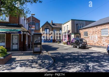 Rosamund Street, Coronation Street, The Studios from dock10, MediaCity UK, Salford M50 2EQ - Stock Photo