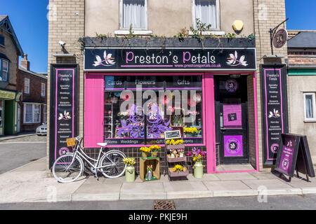 prestons petals, Rosamund Street, Coronation Street, The Studios from dock10, MediaCity UK, Salford M50 2EQ - Stock Photo