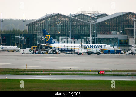 Low cost airline Ryanair aircraft Boeing 737-800 in Gdansk, Poland. September 12th 2018 © Wojciech Strozyk / Alamy Stock Photo - Stock Photo