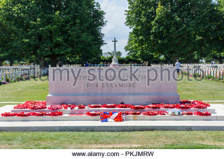 Bayeux CWGC war cemetery, 1939-1945, near to Bayeux in Normandy, France - Stock Photo