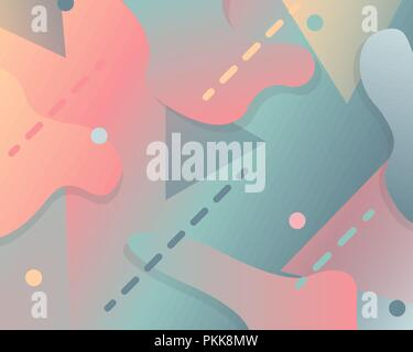Abstract gradient background with fluid pastel elements. - Stock Photo