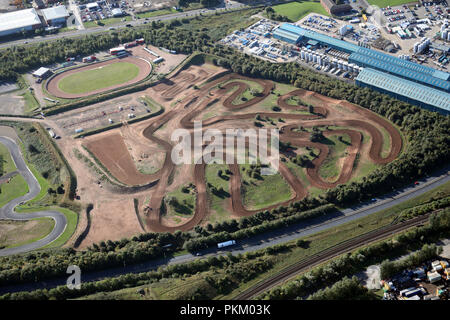 aerial view of part of the Motor Sports Park complex at Middlesbrough - Stock Photo