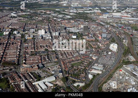 aerial view of Middlesbrough - Stock Photo