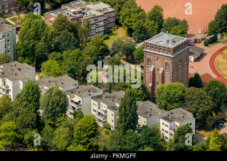 Aerial view, Former colliery Julius Philipp in Bochum with Malakowturm, Institute of Medical Ethics and History of Medicine of - Stock Photo