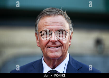 12 September 2018, Baden-Wuerttemberg, Rust: Roland Mack, Managing Director of Europa Park, standing on the red carpet during the opening of the French themed area in Europa Park. Photo: Patrick Seeger/dpa - Stock Photo