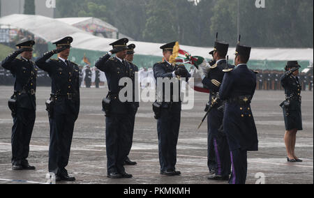 Mexico City, Mexico. 13th Sep, 2018. Mexican President Enrique PeЦa Nieto hosts a Military Parade at the Heroic Collegio Militar (Military Academy) in Mexico City, Mexico, Sept. 13, 2018. Credit: Us Joint Staff/Russian Look/ZUMA Wire/Alamy Live News - Stock Photo
