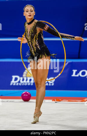 September 14, 2018: Nicol Ruprecht of Austria during Individual All-Around Final at the Arena Armeec in Sofia at the 36th FIG Rhythmic Gymnastics World Championships. Ulrik Pedersen/CSM - Stock Photo
