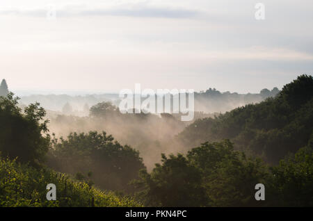 Sunny morning in the hills - Stock Photo