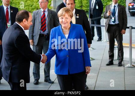 Abd al Fattah as Sisi (Praesident Aegypten), BKin Angela Merkel - Treffen der dt. Bundeskanzlerin mit afrikanischen Staatschefs, Bundeskanzleramt, 12. - Stock Photo
