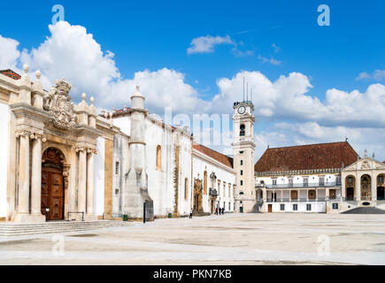 Coimbra University. Paço das Escolas, the Old University (Velha Universidade), Coimbra, Portugal - Stock Photo