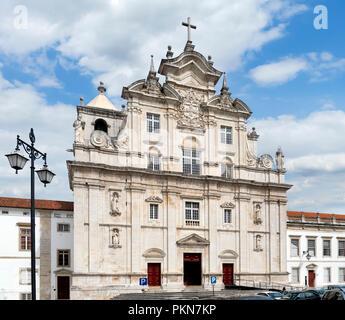 New Cathedral of Coimbra (Sé Nova de Coimbra), Coimbra, Portugal - Stock Photo