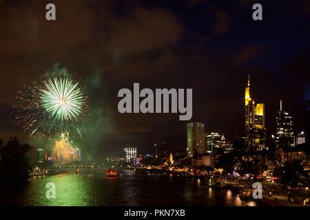 Frankfurt Fireworks - Stock Photo