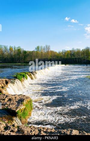 Ventas Rumba waterfall at Kuldiga in Kurzeme of Western Latvia. The city used to be called Goldingen. - Stock Photo