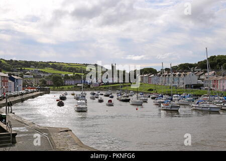 Harbour at Aberaeron, Cardigan Bay, Ceredigion, Wales, Great Britain, United Kingdom, UK, Europe - Stock Photo