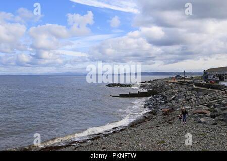 North Beach, Aberaeron, Cardigan Bay, Ceredigion, Wales, Great Britain, United Kingdom, UK, Europe - Stock Photo
