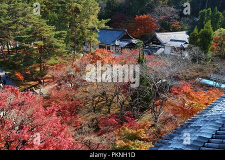 Kyoto, Japan - autumn leaves at Nanzen-ji temple. - Stock Photo