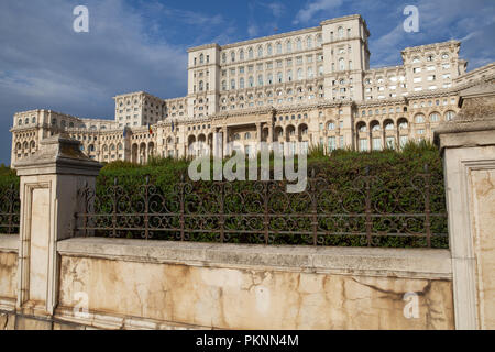 Palace of the Parliament in Bucharest - Stock Photo