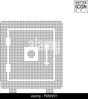 Safe Dot Pattern Icon. Bank Strongbox Dotted Icon Isolated on White. Vector Background, Design Template. Can Be Used for Advertising, Web and Mobile UI. - Stock Photo