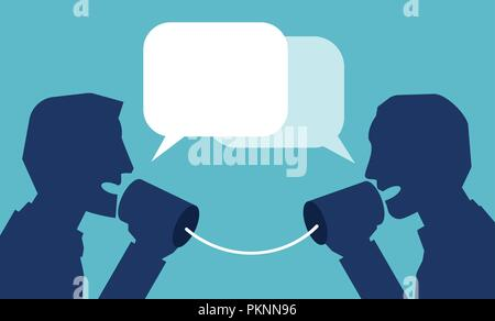 Vector of communication in business concept - Stock Photo