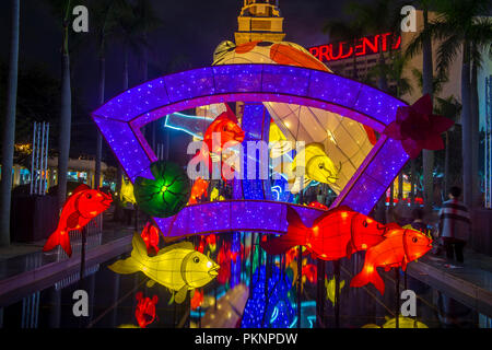 The Spring Lantern exhibition in Hong kong - Stock Photo