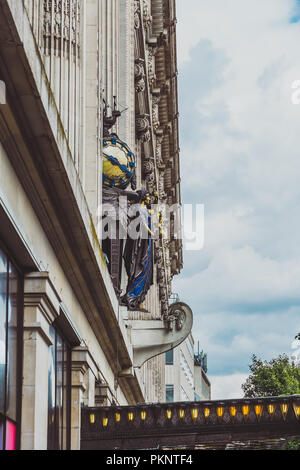 LONDON, UNITED KINGDOM - August 20th, 2018: the Selfridges building in Oxford Street in London city centre, an affluent department store - Stock Photo